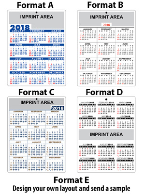 Personalized Lettersize Laminated Calendar 24 pt Heavyweight Paper