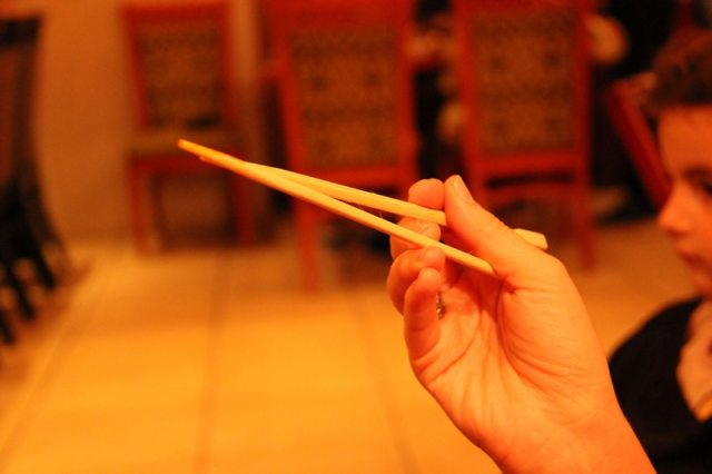 Chopstix chopsticks... disappointingly functional Photo: Peninsularity Ensues