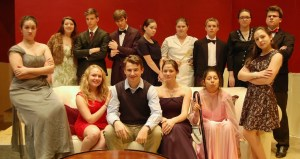 """Dani Shaub, front row, third from right, is pictured with the cast of """"The Plot, Like Gravy, Thickens."""" Dani was named Outstanding Supporting Actress is a Play byt the National Youth Arts Association."""