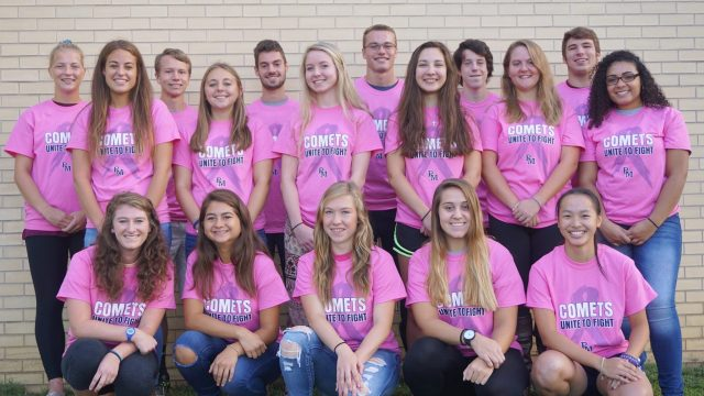 Fall athletes put on their pink.