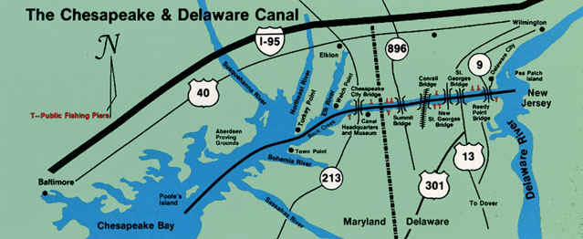 Chesapeake and Delaware Canal (C  D Canal)