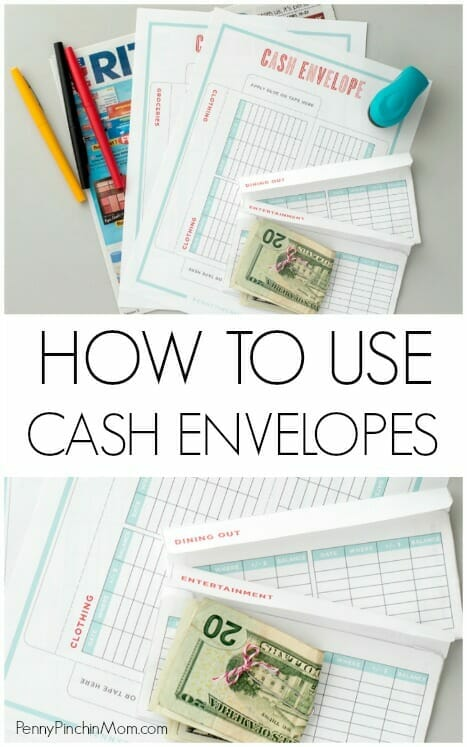 How to Use the Cash Envelope Budget (Includes Template) - money size envelopes