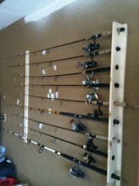 Diy Wall Mount Fishing Rod Holder - Do It Your Self