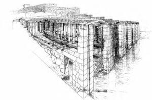 Σχεδιαστική αναπαράσταση των νεωσοίκων από τον E. -L. Schwandner