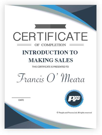 Intro_Making_Sales Certificate Small People  Process