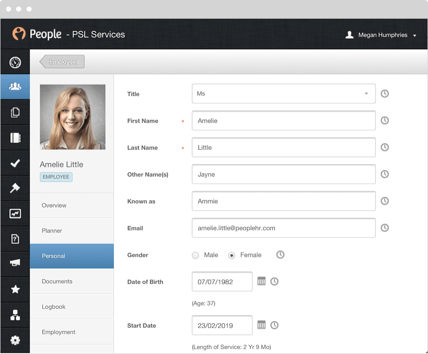 employee records template