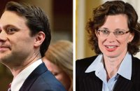 Gubernatorial candidate Jason Carter (left) and U.S. Senate candidate Michelle Nunn (right).