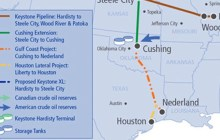 A 485-mile segment of the Keystone Pipeline connecting Cushing, Okla., and Nederland, Texas, is a boon to local economies, according to a new study. (TransCanada)