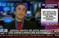 Judicial Watch President Tom Fitton discusses the latest developments in the IRS' missing emails investigation, which is that they aren't missing, at all.
