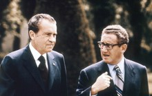 President Richard Nixon (left) listens to then-National Security Advisor, Henry Kissinger. (GETTY IMAGES)