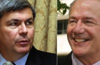 Democrat Mike Ross (left) and Republican Asa Hutchinson (right), candidates in Arkansas governor race this November. (Photos: AP)