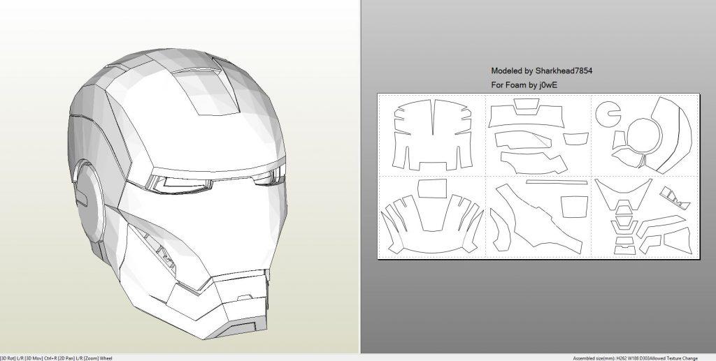 Foamcraft pdo file template for Iron Man \u2013 Mark 4  6 Full Armor +