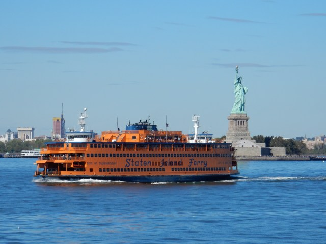 Statue of Liberty & Ferry, New York