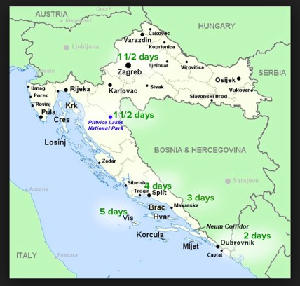 Our Croatia itinerary
