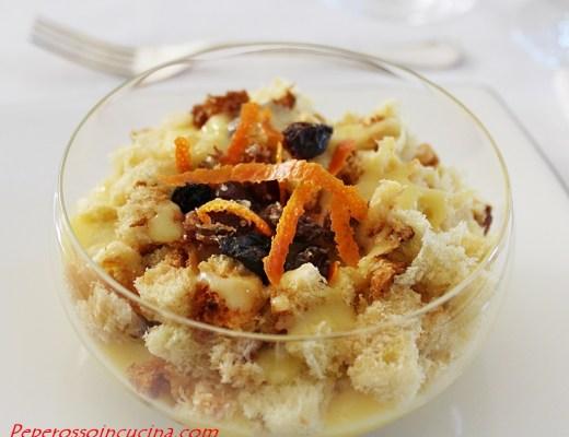 Crema all'arancia con panettone e uvetta 1