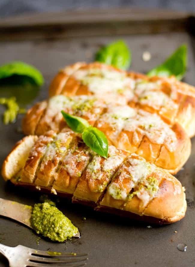 Basil pesto Bread roll Recipe