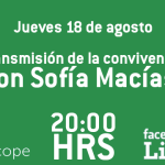 Transmisión de la convivencia en vivo con Sofía Macías