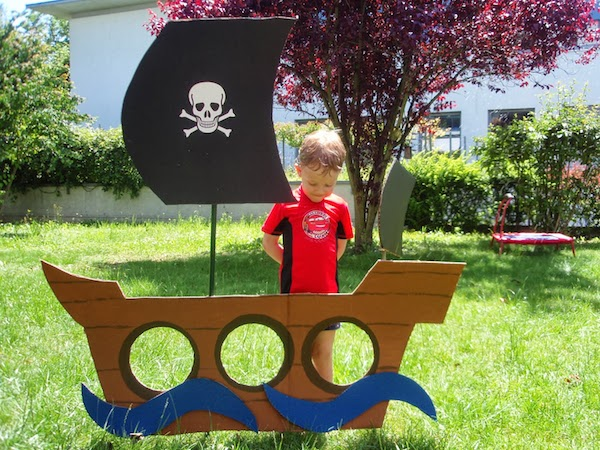 DIY create your own 3D pirate ship- Maybe we can expand this - cereal box book report sample
