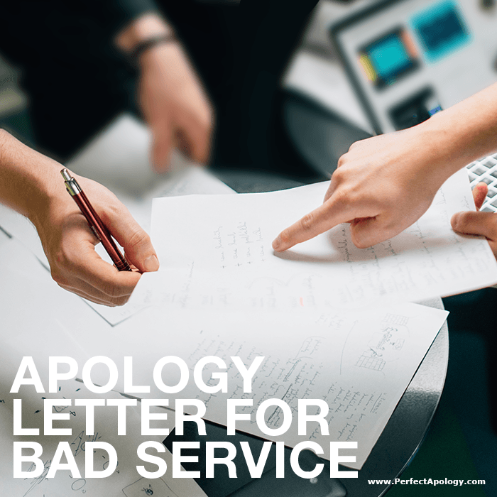 Apology Letter For Bad Service The Perfect Apology