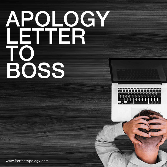 Apology Letter To Boss The Perfect Apology