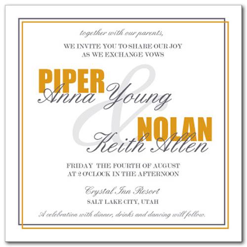 Wedding Invitations, Divine Fall Invitation