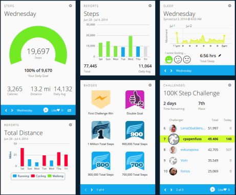 The Garmin Vivofit Dashboard