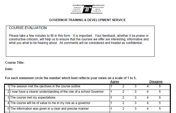 Pretty Post Training Evaluation Template Photos >> Employee Training ...
