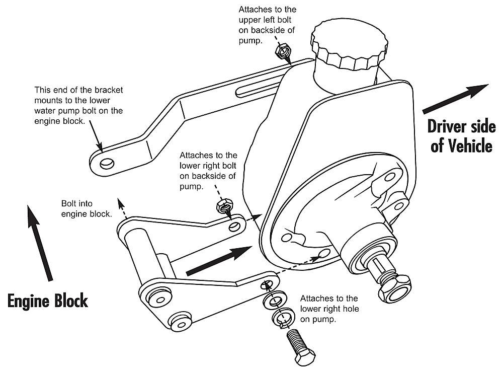 pontiac firebird power steering pump diagram