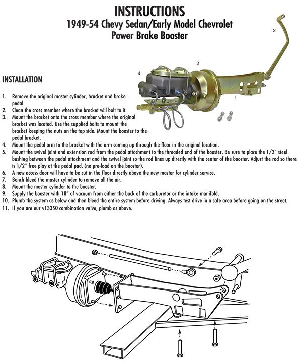 1954 Chevy Master Cylinder Diagram - Data Wiring Diagram Update