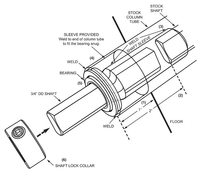 gm steering column bearing kit