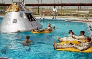 Apolo I aterrizaje en el agua