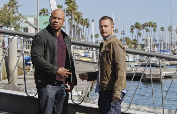 """SEAL Hunter"" -- Pictured: LL COOL J (Special Agent Sam Hanna) and Chris O'Donnell (Special Agent G. Callen). When Sam is arrested for murdering a woman, Callen and Granger work to clear his name.  Meanwhile, Kensi and Deeks discover a link between the victim and a student from Sam's past, on NCIS: LOS ANGELES, Monday, Nov. 3 (9:59-11:00 PM, ET/PT), on the CBS Television Network.  Chris O'Donnell directed the episode.  Mixed martial artist and former UFC Middleweight Champion Anderson Silva guest stars. Photo: Sonja Flemming/CBS ©2014 CBS Broadcasting, Inc. All Rights Reserved."