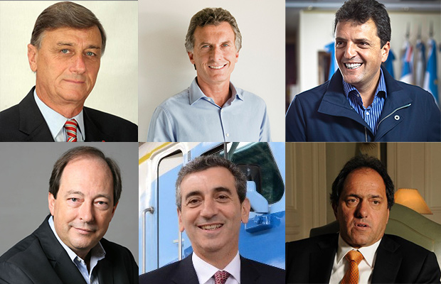 Binner, Macri, Massa, Sanz, Randazzo, Scioli