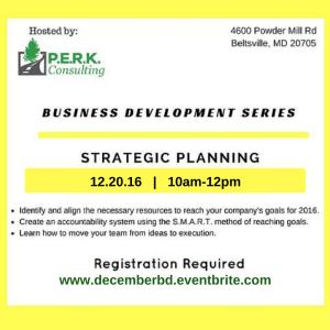 Business Development Series: Strategic Planning for 2017