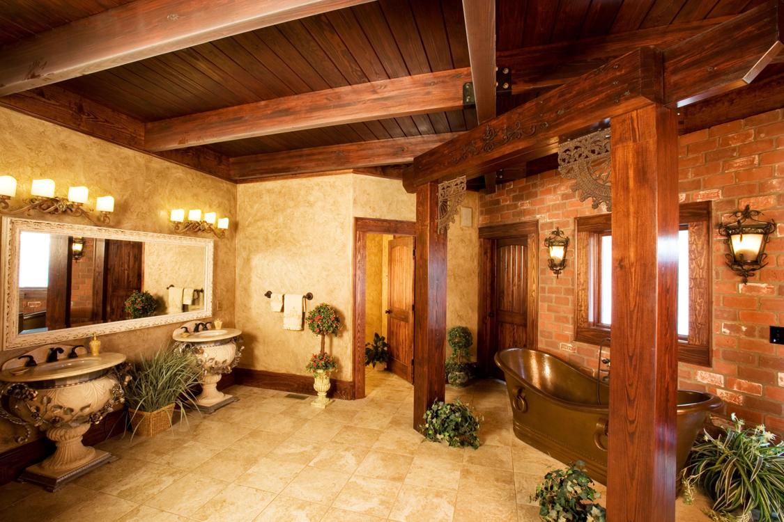 ideas log home bathroom download
