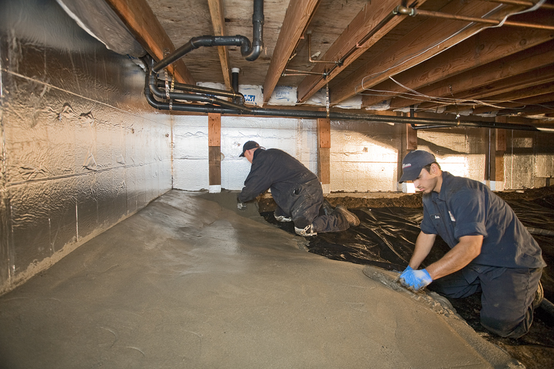 Concrete For Crawl Spaces | Encapsulation | Permadry Waterproofing