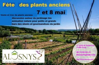 fête des plants anciens dans un jardin permaculture
