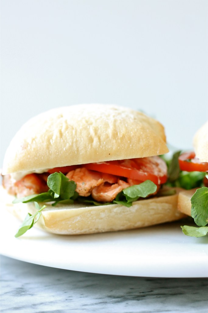 Grilled Salmon Sandwiches with Sesame Aioli | Perpetually ...