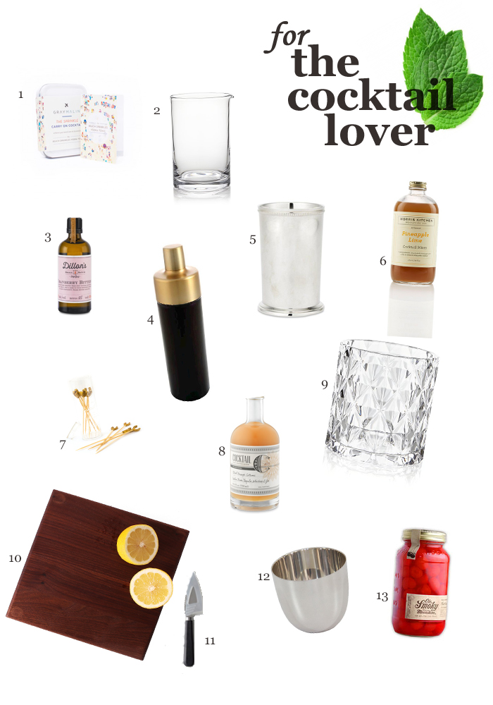 Holiday Gift Guide for the Cocktail Lover