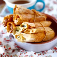 Poblano and Cheese Tamales