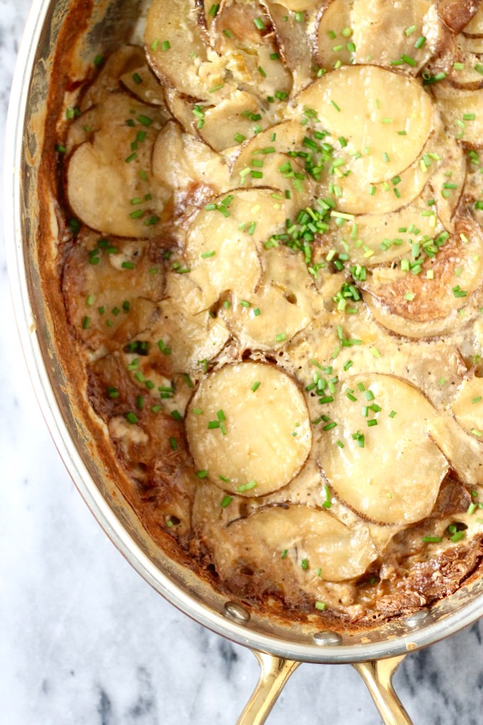 Potato Dauphinoise with Leeks