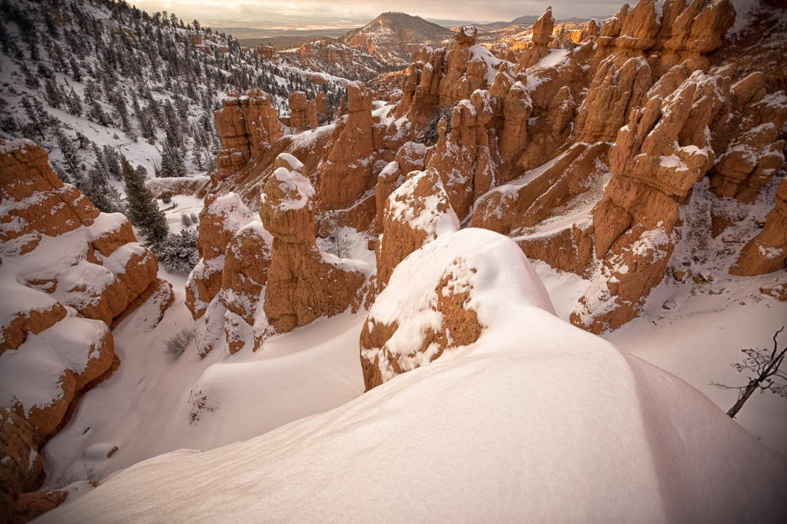 Red Mountain landscape. Just enough snow to shred, so long as you're not afraid of the occasional base dinger