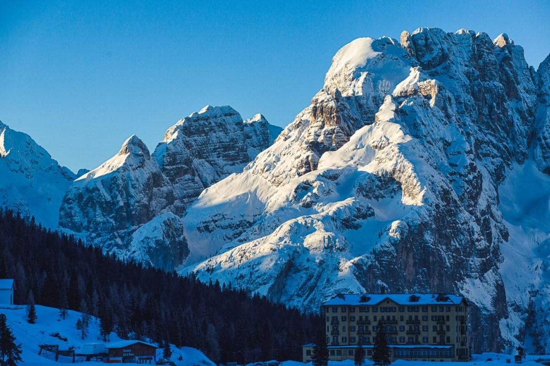 Sunrise on the Dolomites