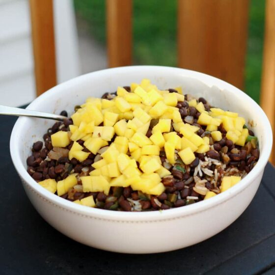 Paleo Coconut Rice with Black Beans