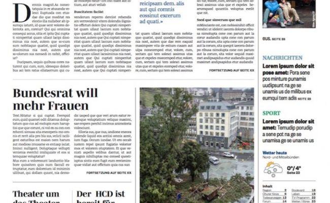 Südostschweiz Bündner Tagblatt Somedia Führt Eine
