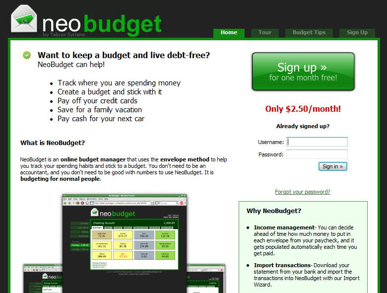 NeoBudget Review - NeoBudget Personal Finance Software Reviews - free home budget program