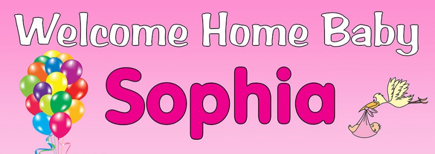 Personalised Welcome Home Banners - Personalised Banners