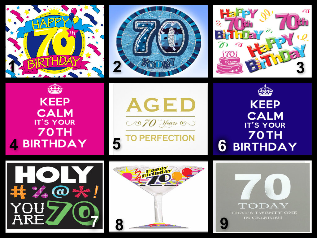 Free Wallpaper Quotes And Sayings Personalised 70th Birthday Edible Cake Topper Wafer Paper