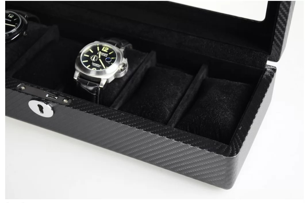 Luxury Personalised Carbon Fiber Watch Box For Men W