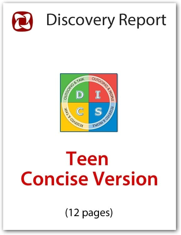 Teen DISC Personality Profile, Concise (12-page) Version, English